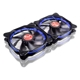 Set 2 ventilatoare 120 mm Raijintek AURA 12 Blue LED PWM