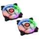 Set 2 ventilatoare 120 mm Raijintek IRIS 12 Rainbow RGB LED