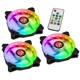 Set 3 ventilatoare 120 mm Raijintek IRIS 12 Rainbow RGB Addressable LED