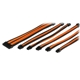 Set cabluri prelungitoare Thermaltake TtMod Sleeve Cable Kit, cleme incluse, 300mm, Black / Orange