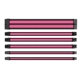 Set cabluri prelungitoare Thermaltake TtMod Sleeve Cable Kit, cleme incluse, 300mm, Black / Pink