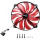 Ventilator 200 mm Aerocool Silent Master Red LED