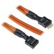Cablu prelungitor USB intern BitFenix Alchemy 300mm orange/black, BFA-MSC-IUSB30OK-RP