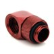 Adaptor rotativ 90 grade alama Bitspower de la G1/4 la IG1/4, Deep Blood Red