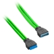 Cablu prelungitor USB 3.0 intern CableMod ModMesh 50cm - Light Green
