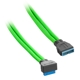 Cablu prelungitor USB 3.0 intern CableMod ModMesh 50cm Light Green, conector in unghi drept