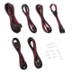 Set cabluri modulare CableMod C-Series ModFlex Essentials AXi, HXi, RM - Black/Red