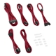 Set cabluri modulare CableMod C-Series ModFlex Essentials AXi, HXi, RM - Red