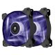 Ventilator 120 mm Corsair AF120 Purple LED Quiet Edition, Twin Pack, CO-9050016-PLED