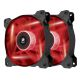 Ventilator 120 mm Corsair AF120 Red LED Quiet Edition, Twin Pack, CO-9050016-RLED