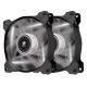 Ventilator 120 mm Corsair AF120 White LED Quiet Edition, Twin Pack, CO-9050016-WLED