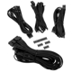 Set cabluri modulare Corsair Premium PSU Cable Starter Kit Type 4 Gen 3, cleme incluse, Black