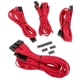 Set cabluri modulare Corsair Premium PSU Cable Starter Kit Type 4 Gen 3, cleme incluse, Red