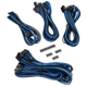 Set cabluri modulare Corsair Premium PSU Cable Starter Kit Type 4 Gen 3, cleme incluse, Blue/Black