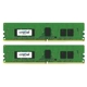 Memorie Crucial 8GB (2x4GB) DDR4 2133MHz 1.2V CL15 Single Rank ECC Dual Channel Kit, CT2K4G4WFS8213