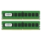Memorie Crucial 8GB (2x4GB) DDR4 2133MHz 1.2V CL15 Dual Rank ECC Dual Channel Kit, CT2K4G4WFS8213