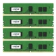 Memorie Crucial 16GB (4x4GB) DDR4 2133MHz 1.2V CL15 Single Rank ECC Quad Channel Kit, CT4K4G4WFS8213