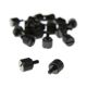 Set 40 suruburi aluminiu DimasTech ThumbScrews M3/6-32 Thread Deep Black