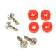 Set suruburi antivibratii Lamptron HDD Rubber Screws Red