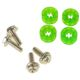 Set suruburi antivibratii Lamptron HDD Rubber Screws UV green