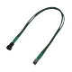 Cablu prelungitor Nanoxia 3-pini Molex Single Sleeve, 30cm, green/black