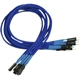 Nanoxia Front Panel cable set 30cm, Blue