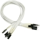 Nanoxia Front Panel cable set 30cm, White
