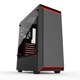 Carcasa Phanteks Eclipse P300 Tempered Glass Black/Red