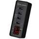 Hub USB Silverstone EP03, 4x USB 3.1 Gen 1 si display voltaj/curent