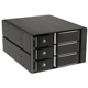 Rack intern Silverstone FS303B Hot Swap, 3x 3.5 inch SAS/SATA HDD/SSD, 2x 5.25 inch Bay, Black
