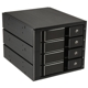 Rack intern Silverstone FS304B Hot Swap, 4x 3.5 inch SAS/SATA HDD/SSD, 3x 5.25 inch Bay, Black
