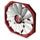 Ventilator 140 mm Raijintek Aeolus Alpha Ultra Slim PWM, Red/White, 0R400001