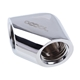 Fiting adaptor la 90 grade Alphacool Eiszapfen 2x filet interior G1/4 - Chrome