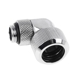 Fiting adaptor la 90 grade Alphacool Eiszapfen 16mm Hard Tube - filet exterior G1/4 rotativ - Chrome