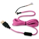 Cablu USB pentru mouse Glorious PC Gaming Race Ascended Cable V2 - Majin Pink, G-ASC-PINK-1
