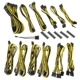 Kit cabluri modulare BitFenix Alchemy 2.0 BQT-DPP Series Black/Yellow
