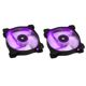 Ventilator 120 mm Corsair SP120 Purple LED Twin Pack