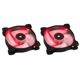 Ventilator 120 mm Corsair SP120 Red LED Twin Pack