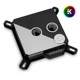 Waterblock CPU EK Water Blocks EK-Velocity Strike RGB - Black Nickel + Black