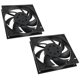 Pachet 2 ventilatoare 120 mm EK Water Blocks EK-Vardar EVO 120ER Black BB (500-2200rpm) Dual Set