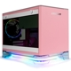 Carcasa In Win A1 PLUS Pink Tempered Glass Mini-ITX Black, ARGB, sursa 650W Gold, IIW-A1PLUS-PINK