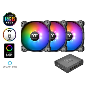 Set 3 ventilatoare Thermaltake Pure Plus 12 RGB TT Premium Edition