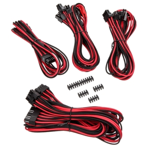 Set cabluri modulare Corsair Premium PSU Cable Starter Kit Type 4 Gen 3, cleme incluse, Red/Black