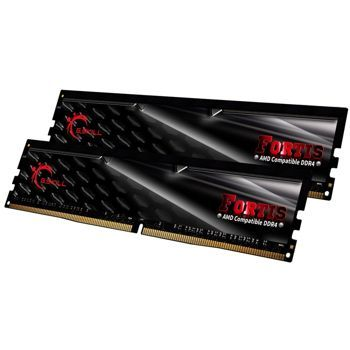 Memorie G.Skill Fortis Black 16GB (2x8GB) DDR4 2133MHz CL15 1.2V AMD Ryzen Ready Dual Channel Kit, F4-2133C15D-16GFT