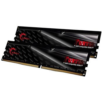 Memorie G.Skill Fortis Black 32GB (2x16GB) DDR4 2400MHz CL15 1.2V AMD Ryzen Ready Dual Channel Kit, F4-2400C15D-32GFT