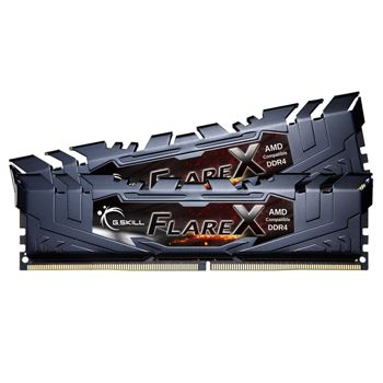 Memorie G.Skill Flare X Black 32GB (2x16GB) DDR4 3200MHz CL14 1.35V AMD Ryzen Ready Dual Channel Kit, F4-3200C14D-32GFX