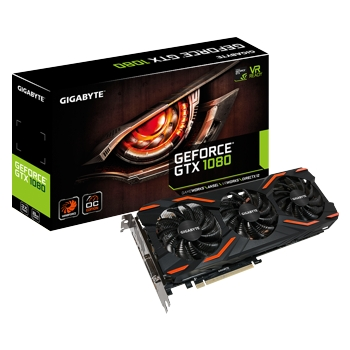 Placa video Gigabyte GeForce GTX 1080 WINDFORCE OC, 1657 (1797) MHz, 8GB GDDR5X, 256-bit, DL-DVI-D, HDMI, 3x DP