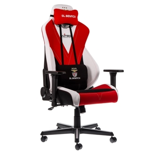 Scaun gaming Nitro Concepts S300 SL Benfica Special Edition - White/Black/Red