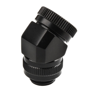 Fiting adaptor rotativ Phanteks Glacier 45 grade 12mm Hard Tube G1/4 Black