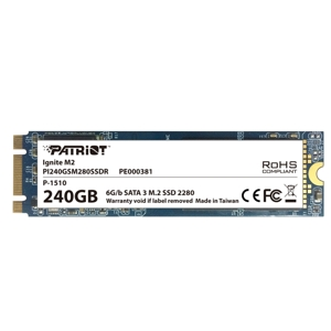 SSD Patriot Ignite M.2 240GB, SATA3, MLC, PI240GSM280SSDR